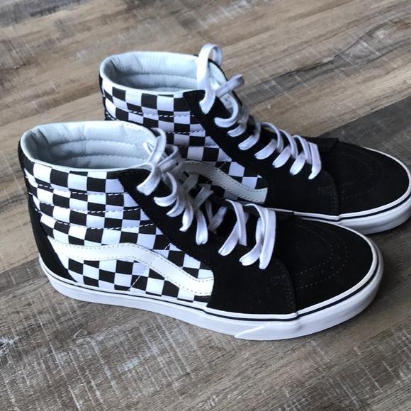 2e8005faa592 Vans Shoes - VANS checkerboard SK8-high women s 8